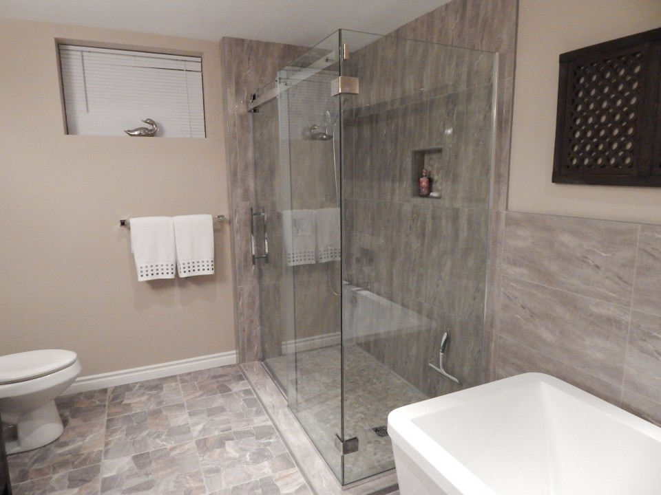 Walk-in shower in Guest Bathroom