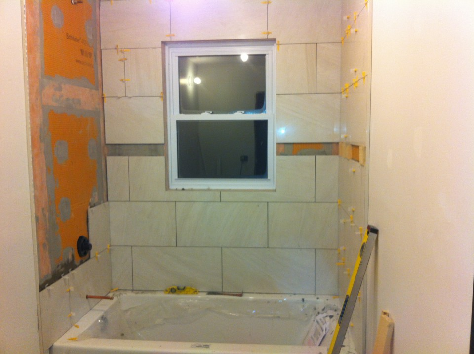 Tiled Tub Surround Shower