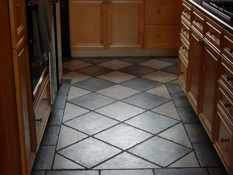 Tile kitchen floor as a thing of beauty