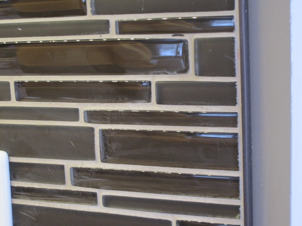 Edging for backsplash tile
