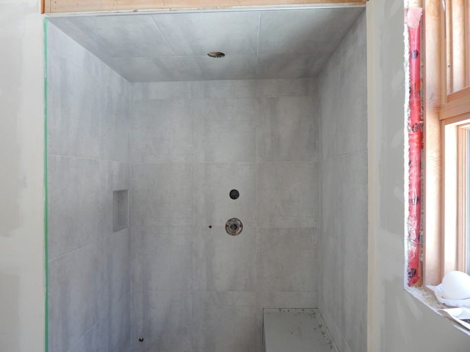 Tiled Steam Shower.