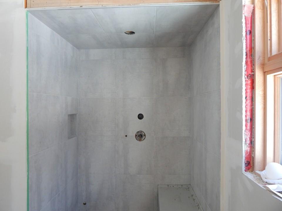 Tiled Steam Shower.