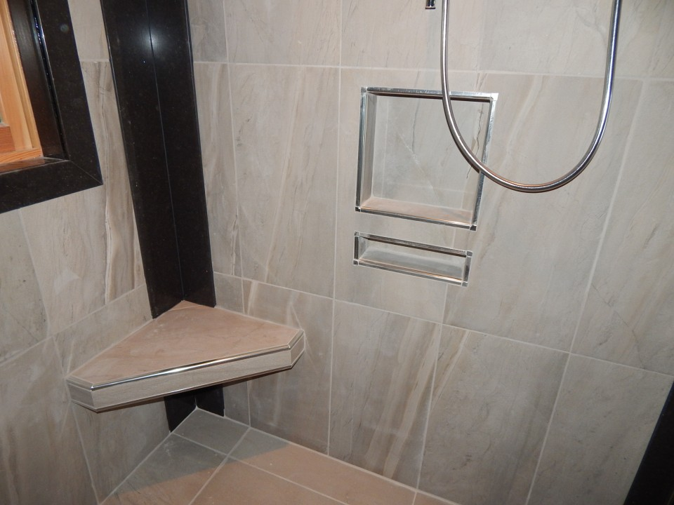 Curb-Less Walk-In Shower - creativetilingsolutions