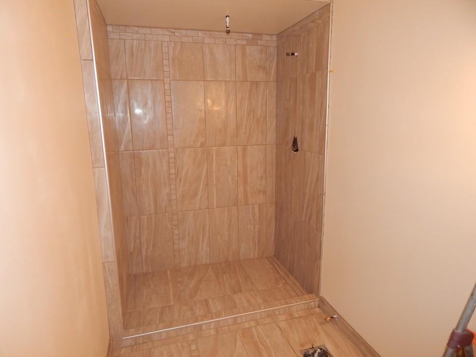 Beautiful Walk-In-Shower in place of bathtub